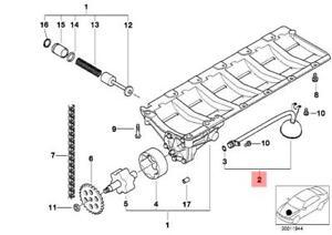 Genuine BMW E38 Sedan Engine Oil Pick-Up Tube OEM 11411432735