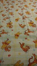 Winnie The Pooh and Tigger VINTAGE Twin Flat Sheet DISNEY Material Fabric Crafts