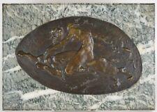 Juliaan Dillens (1849-1904) Medaillon En Bronze Bataille De Mowgli Et Shere Khan