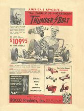 Vintage & Super Rare 1960 Rocco Norseman Thunderbolt Go-Kart Ad