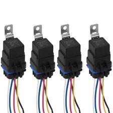 4PCS Waterproof Integrated 12V 40A 5PIN Auto Car Relay & Socket Holder 18/16AWG
