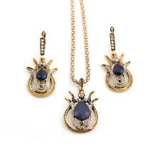 Women Crystal Rhinestone Diamond Necklace Pendant Earrings Jewelry Set AOL