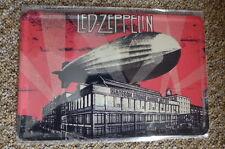 Led Zeppelin 2 Album Design Tin Metal Sign Painted Poster Comics Book Wall Art