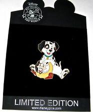 Rare Le 250 Disney Pin✿ 101 Dalmatians Puppy Patch Cruella DeVil Time for Toys