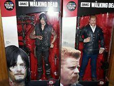 "New Walking Dead Color Tops DARYL DIXON/ ABRAHAM 7"" lot McFarland"