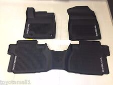 2016-2019 SEQUOIA FLOOR MAT LINERS RUBBER ALL WEATHER TOYOTA GENUINE OEM 3PC