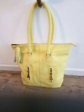 See By Chloe Yellow Pebbled Leather Shoulder Bag Shopper Handbag £260