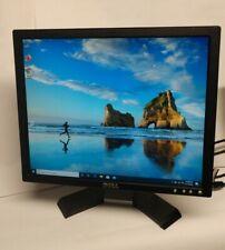 """Dell E177Fpb 17"""" LCD Monitor VGA  Grade B w/ stand Black w/Silver trim 5:4 ratio"""