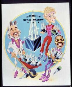 American Music Awards Kenny Rogers Stevie Wonder artwork Original Transparency