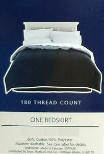 COLORMATE  BLACK  TWIN  SIZE  TAILORED BED SKIRT BEDDING NEW