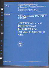 Operation Desert Storm, large run of GAO publications, 1991-1993 bound in binder