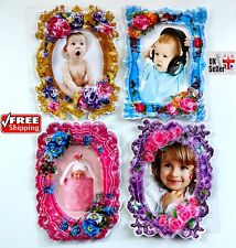 4X Beautiful Baby Photo Frame Kids Girls boys Picture Room Nursery Wall Decor UK