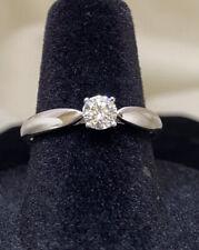 Authentic Tiffany & Co. Platinum Diamond Solitaire Engagement Ring Size 7