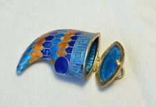 Chinese vintage cloisonne tiger claw pendant with hinged lid