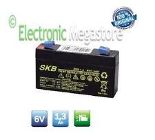 Batteria Ermetica Ricaricabile al Piombo 6V Volt 1,2Ah 1,3Ah connettore Faston