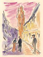 Llop - Reus 'fossar vell' #2 - aquarel·la original 24x18