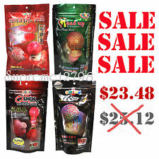 Set of 4 OKIKO 100g. High Quality Flowerhorn and Cichild Fish Food Pellet Size L