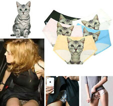 Seamless 3D Cat Printed Women Panties Underwear Ladies Briefs fun naughty erotic