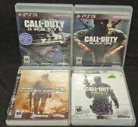 Call of Duty Modern Warfare 2 3 Ghosts Black Ops 1  Playstation 3 PS3 3 Game Lot