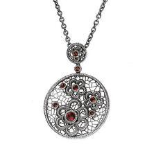 Halsketten und Anhänger im Collier-Stil mit echten Edelsteinen floralen Themen