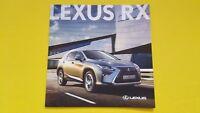 Lexus RX S SE F Sport Premier Luxury brochure sales catalogue January 2017 MINT