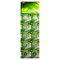 10 x LR54 GP 1.5V Alkaline Button Cell Watch Battery 189, G10A, RW89, L1131, 390
