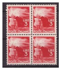 DEMOCRATICA 1946  -  LIRE 3  QUARTINA  NUOVA **