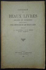 Catalogue de beaux livres de la bibliothéque de M. PERSON / 1885