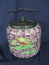 Vintage Art Deco Newport Pottery Biscuit Barrel Burslem England