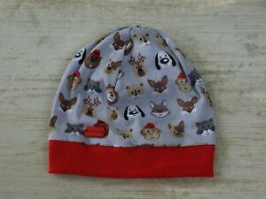 Babymütze beanie boshi Mütze Baby Gr.39-42 Baumwolle / Jersey Tiere genäht