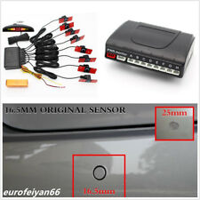 8 Parking Sensors Car Reverse Backup 16mm Flat Radar Alarming System LED Monitor