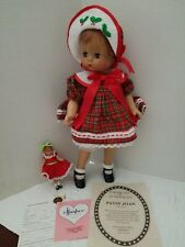 Effanbee Patsy Joan Christmas Doll in Original Box With Baby & Paperwork Mint