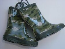 Gymboree ALL STAR FOOTBALL Green Camouflage Boy Rain Boots Size 12 NWT