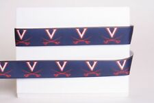 "University Of Virginia 7/8"" Grosgrain Ribbon -Various Yards Ship From Usa"