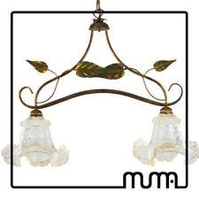Luminaria lámpara de araña Estilo Shabby Chic y vaso Murano. Fina Art Vidrio Luz