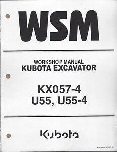 Kubota KX057-4 U55, U55-4 Workshop Service Repair Manual RY911-20511