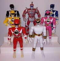 Bandai Mighty Morphin Power Rangers 8 Inch Action Figures Lot Of 7 1993 1994