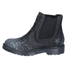 women's shoes 2 STAR 11 (EU 41) ankle boots black leather glitter BX374-41