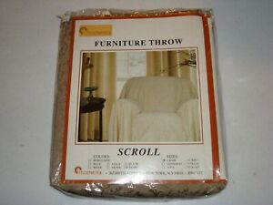 Stylemaster Furniture Chair Throw Scroll Pattern Taupe