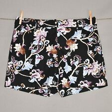 "WHITE HOUSE BLACK MARKET NEW $69 5"" Floral Smooth Stretch Shorts Size 8"