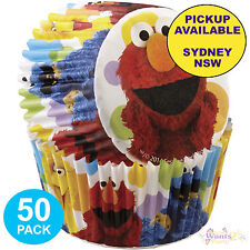 SESAME STREET PARTY SUPPLIES 50 ELMO CUPCAKE BAKING CUPS WILTON PATTY PANS