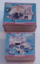 Fisher Price Play Family Dollhouse Miniature Jetport Airport Action Garage Box