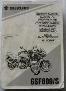 toimitilaa.fi NEU Fahrerhandbuch Suzuki GSF 1200 S Bandit Owner's ...