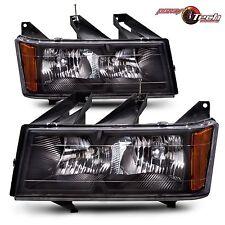 Aftermarket Headlights Chevy GMC Pickup Truck  Black Bezel Pair Set LH & RH