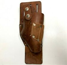 Vintage Nichola Right Hand Top Grain Cowhide Leather Drill Tool Holster #1702