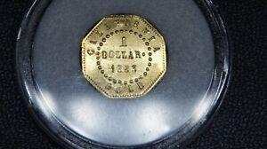 1863 - CALIFORNIA GOLD - 1 DOLLAR - OCTAGON - LIBERTY HEAD - PROOF LIKE - GEM BU