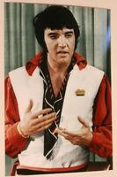 Elvis Presley Candid Photo Elvis in Red and white
