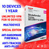 Bitdefender Total Security 2021 & Premium unlimited VPN 10 devices 1 Jahr