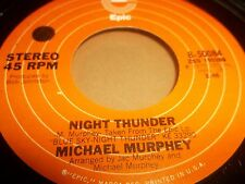 """MICHAEL MURPHEY """" WILDFIRE / NIGHT THUNDER """" 7"""" SINGLE EPIC 1975 EXCELLENT"""