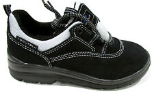 ABOUTBLU Ladies Sara S2 SAFETY SHOES Work Steel Toe Cap 24081 BLACK Silver UK 3